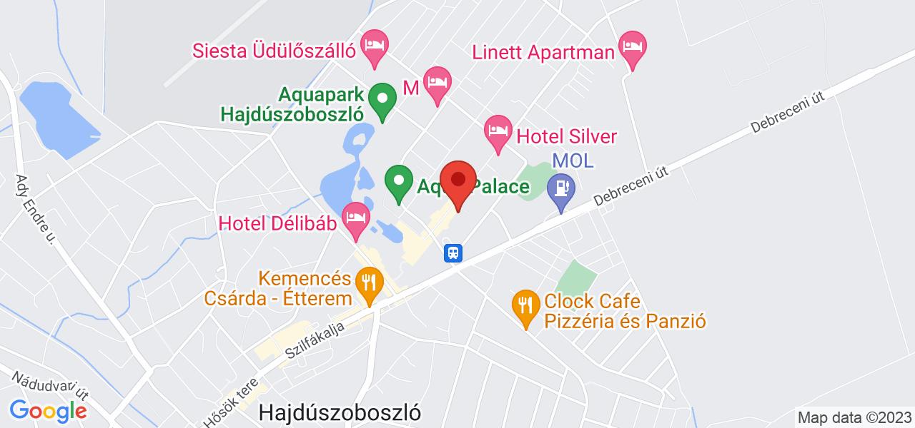 Mapa Hotel Aurum**** Hajduszoboszlo
