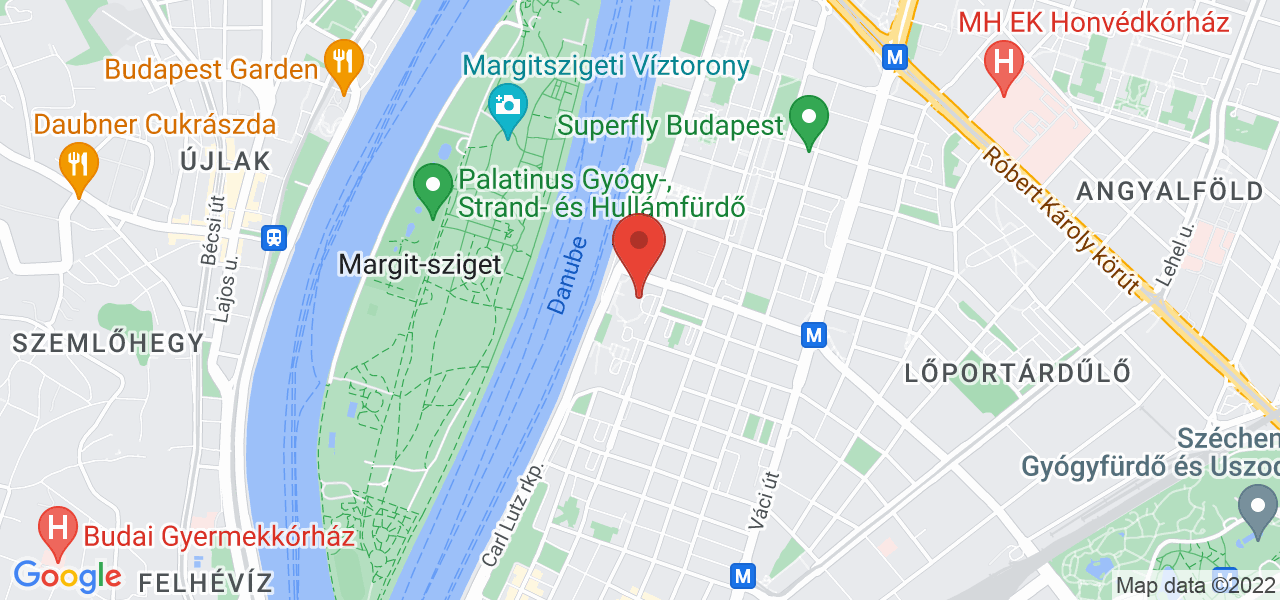 Mapa Hotel Danubius Health Spa Resort Helia**** Budapešť