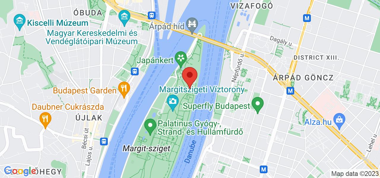 Mapa Hotel Danubius Health Spa Resort Margitsziget**** Budapešť