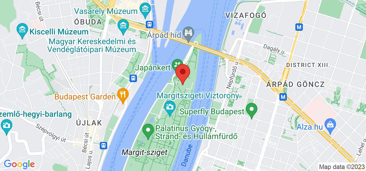 Mapa Hotel Danubius Grand Margitsziget**** Budapešť