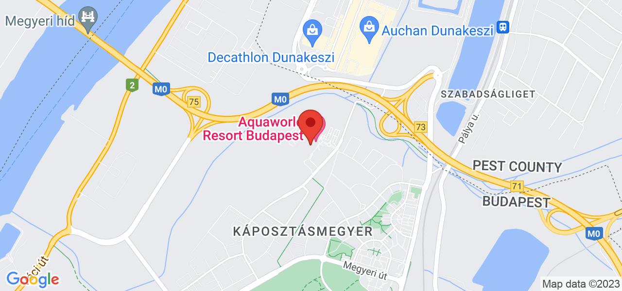 Mapa Hotel Aquaworld Resort**** Budapešť