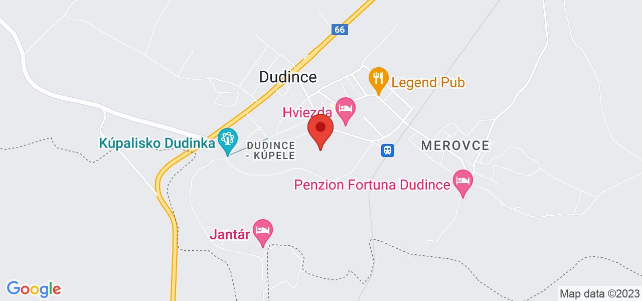 Mapa Liečebný dom Diamant*** Dudince