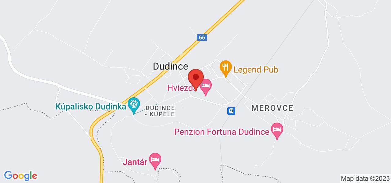 Mapa Lázeňský hotel Minerál*** Dudince