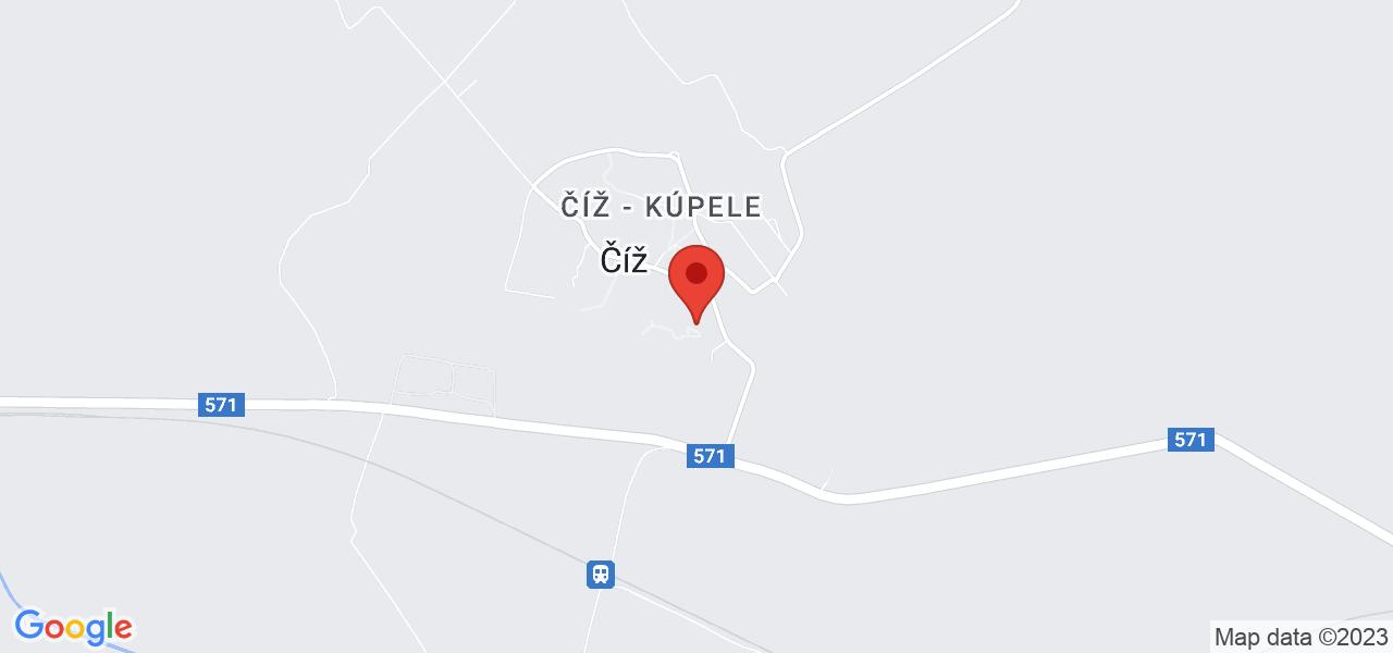 Mapa Dom uzdrowiskowy Rimava*** Ciz