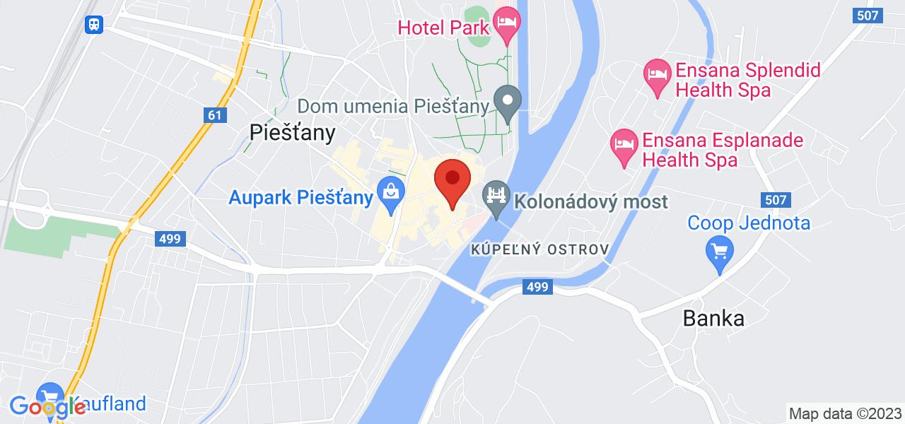 Mapa Hotel Jalta** Piešťany