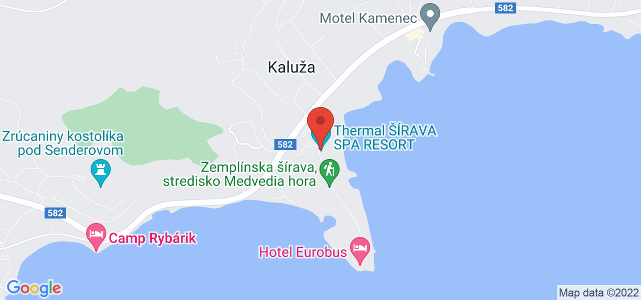 Mapa Thermal Šírava Spa Resort**** Zemplínska Šírava