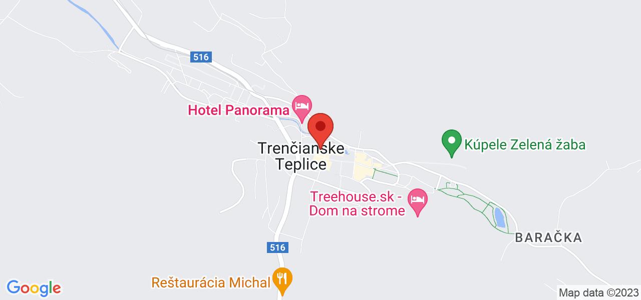 Mapa Kúpeľný Hotel Slovakia*** Trenčianske Teplice