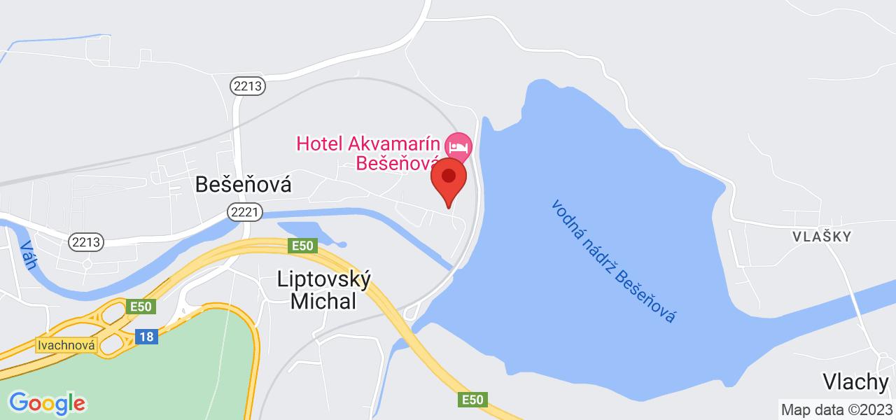 Mapa Hotel Bešeňová*** Besenova