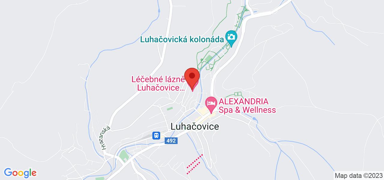 Mapa Lázeňský hotel Miramare**** Luhačovice