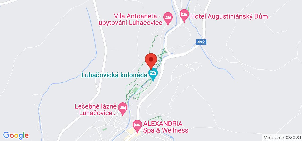 Mapa Villa Alpská Rúže**** Luhačovice