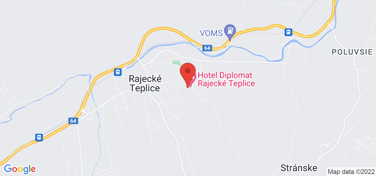 Mapa Wellness Hotel Diplomat**** Rajecké Teplice