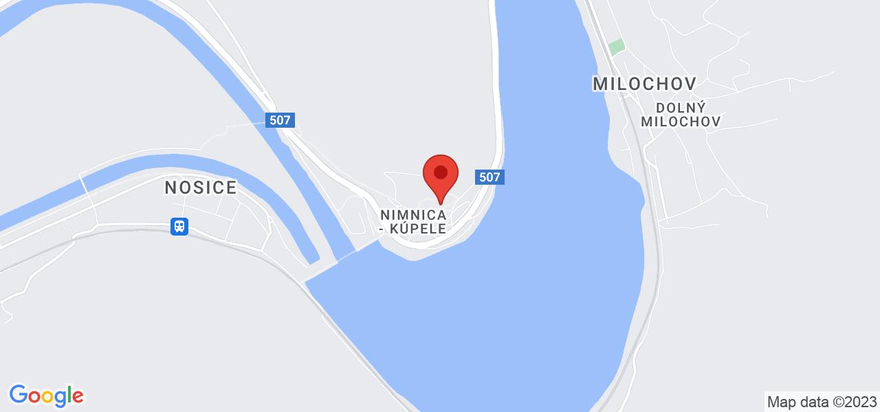Mapa Liečebný dom Manín Nimnica