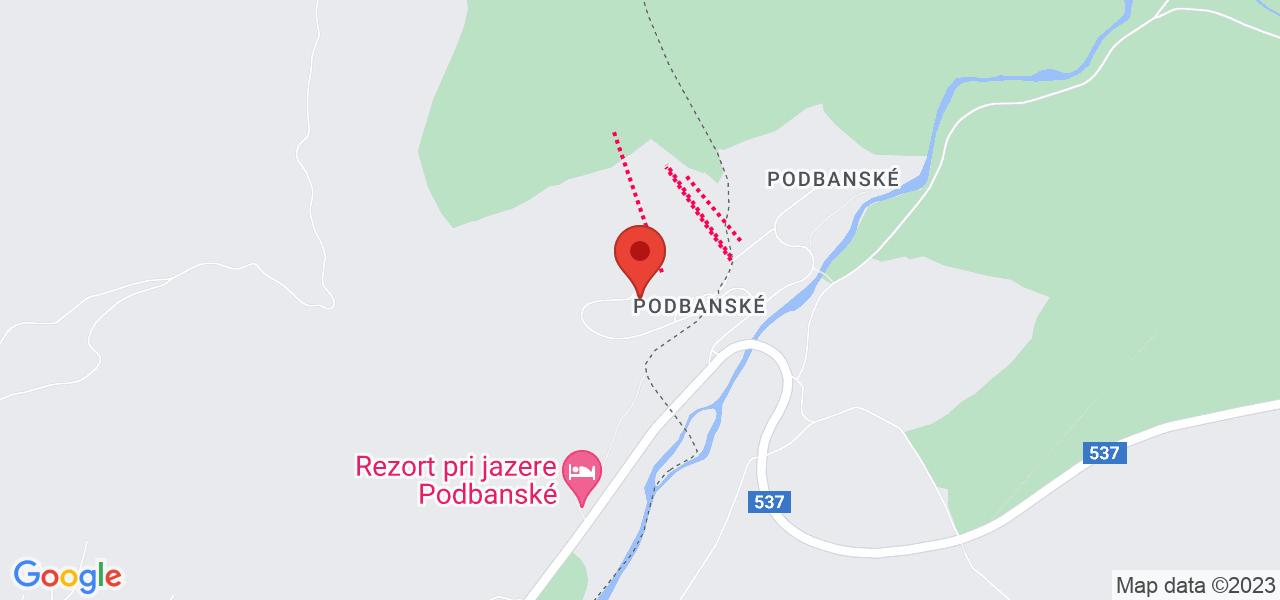 Mapa Hotel Pieris*** Podbanske