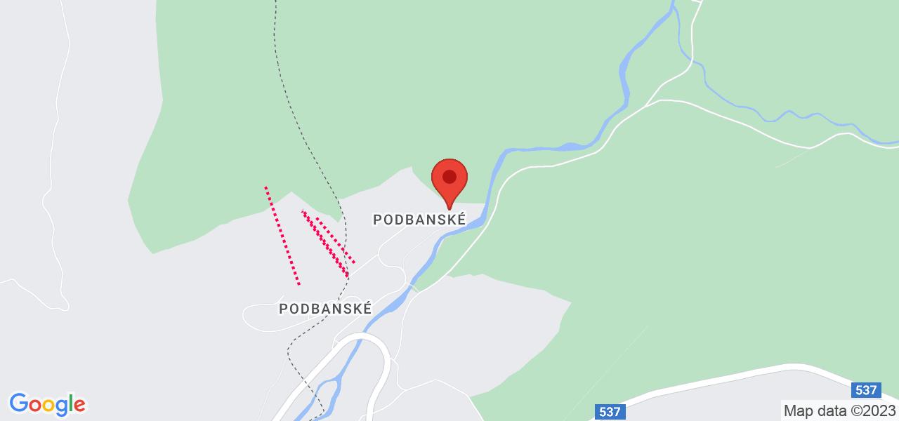 Mapa Grand hotel Permon**** Podbanské