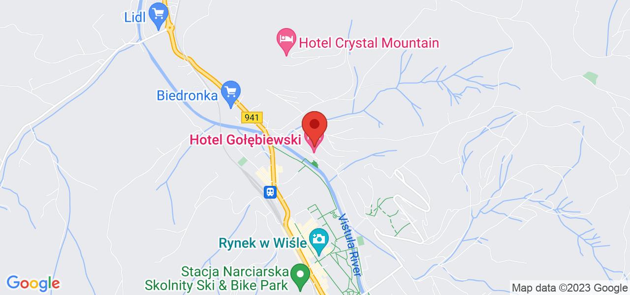 Mapa Hotel Gołębiewski**** Wisla