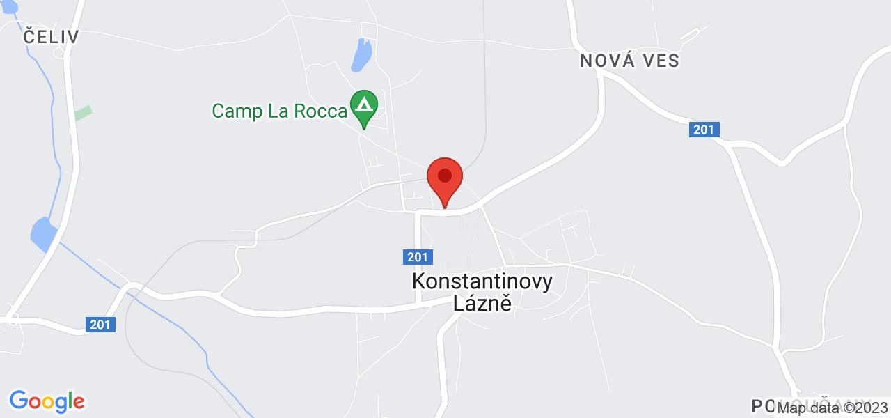 Mapa Hotel Jirásek*** Konstantinovy Lázně