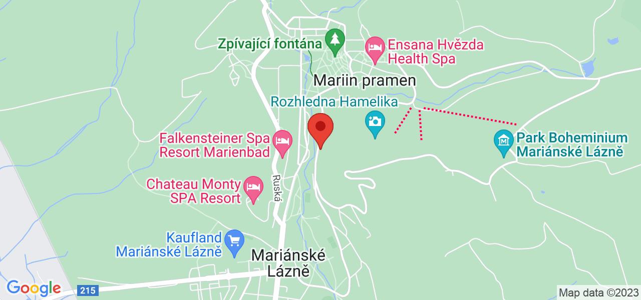 Mapa Lázeňský hotel Spa hotel Vltava*** Mariánske Lázně