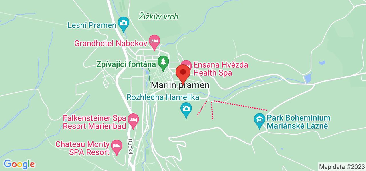 Mapa Hotel Maria Spa Superior**** Mariánske Lázně