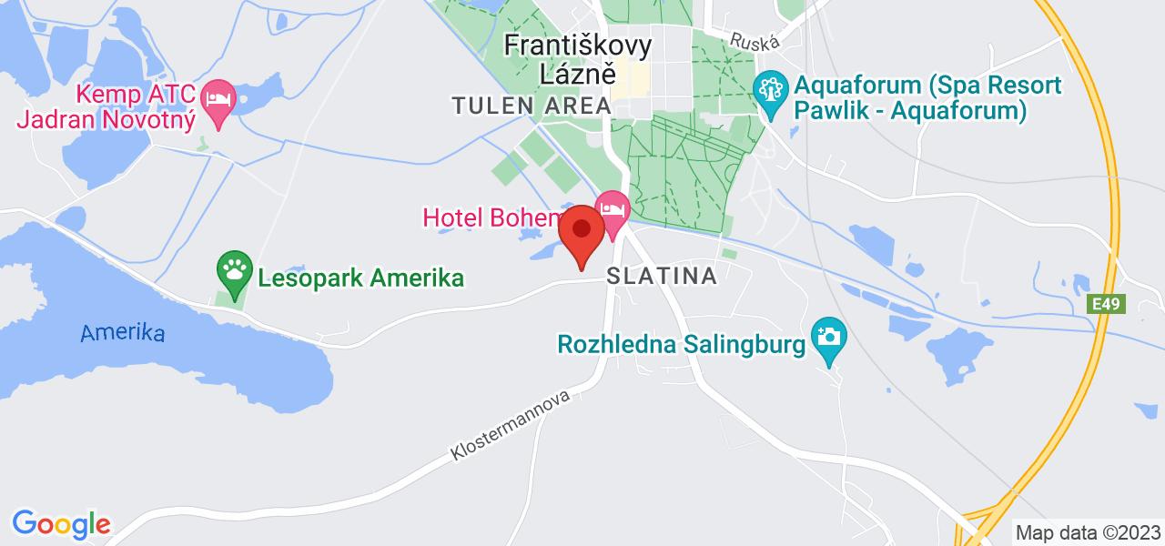 Mapa Hotel Francis Palace**** Františkovy Lázně