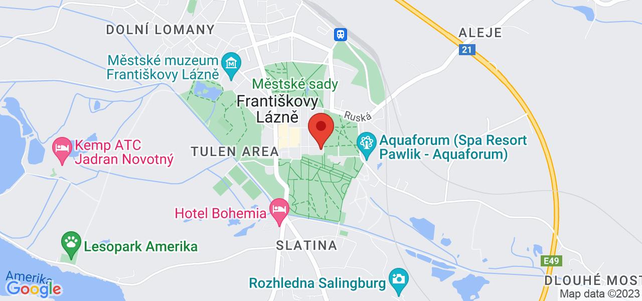 Mapa Léčebný dům Belvedere*** Františkovy Lázně
