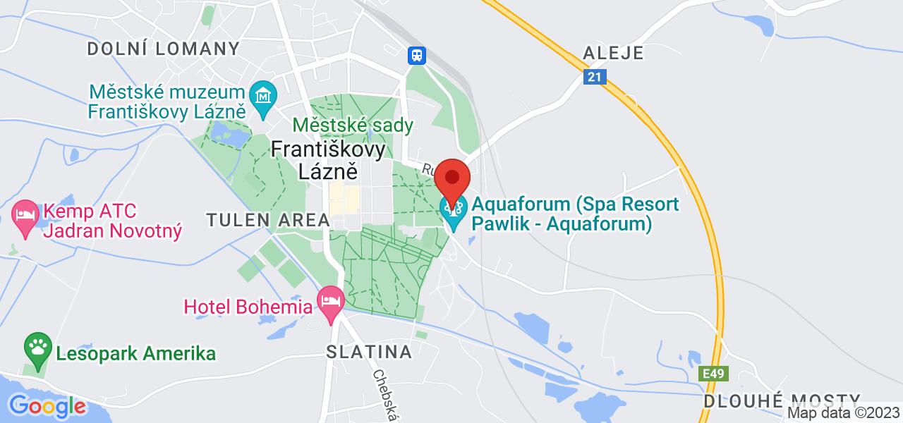 Mapa Lázeňský hotel Pawlik**** Františkovy Lázně