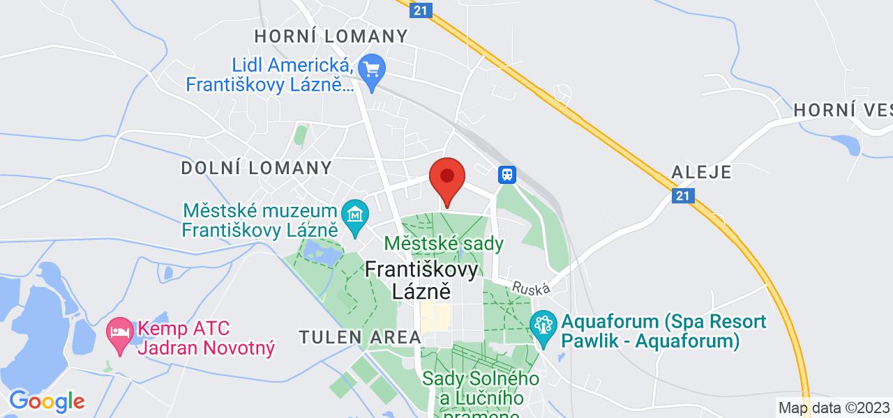 Mapa Lázeňský hotel Metropol*** Františkovy Lázně