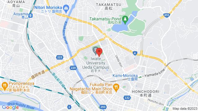 岩手県盛岡市上田3-18-8 岩手大学