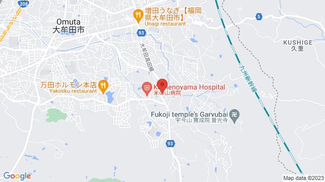 福岡県大牟田市大字今山2324-1 米の山病院