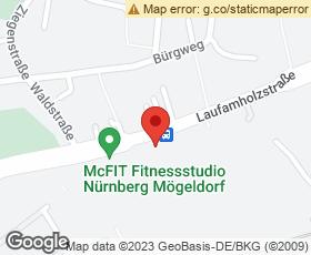Kartenausschnitt Marktkauf Nürnberg-Mögeldorf