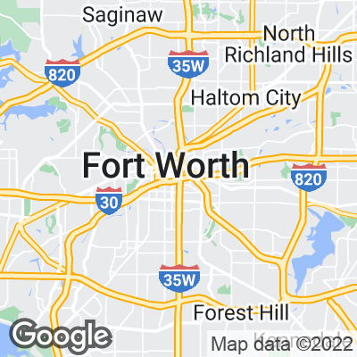 Google map of Fort Worth