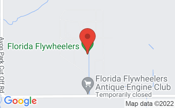 Map showing location of Florida Flywheelers Antique Engine Club