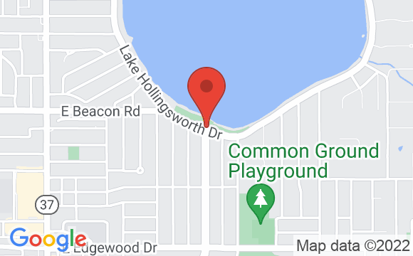 Map showing location of Lake Hollingsworth