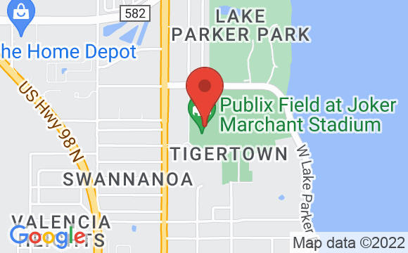 Map showing location of Publix Field at Joker Marchant Stadium