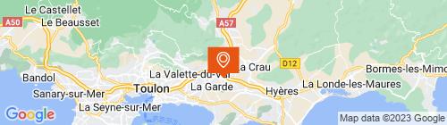 Emplacement centre Mon Contrôle Technique La Garde-Azur Auto Contrôle