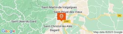 Emplacement centre Alès Contrôle Poids Lourds