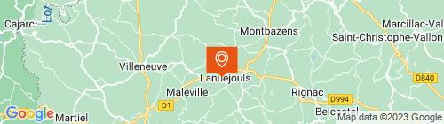 Emplacement centre MON CONTROLE TECHNIQUE LANUEJOULS