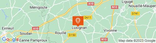 Emplacement centre MonContrôleTechnique Lusignan