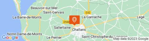 Emplacement centre Contrôle technique CTA Leroux Challans