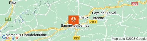 Emplacement centre AUTOCONTROLE DE BAUME LES DAMES