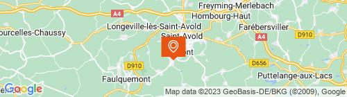 Emplacement centre CONTROLE TECHNIQUE DE FOLSCHVILLER