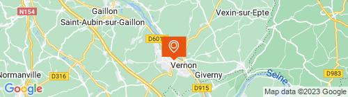Emplacement centre Contrôle technique Vernon - EDCOR