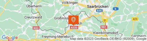 Emplacement centre Contrôle technique CT3A Forbach