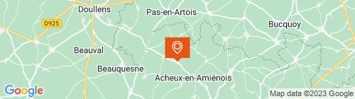 Emplacement centre CONTROLE TECHNIQUE DE LOUVENCOURT