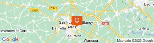 Emplacement centre ARRAS AUTOMOBILE CLUB DU NORD DE LA FRANCE