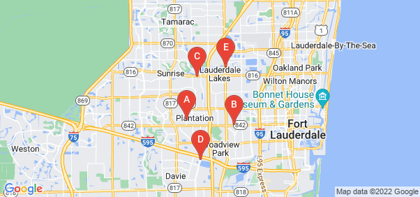 Google static map for Broward County