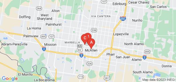 Google static map for Mcallen