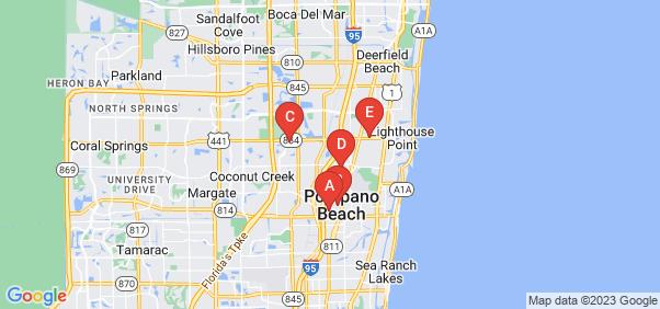 Google static map for Pompano Beach