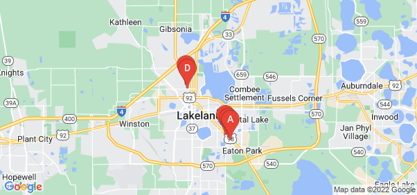 Google static map for Lakeland