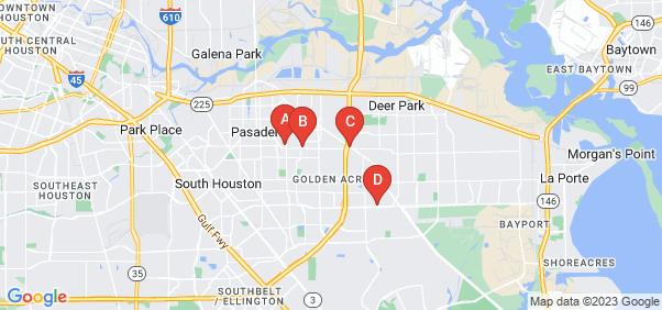 Google static map for Pasadena
