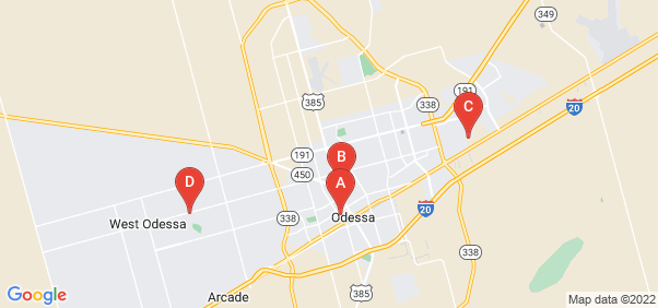 Google static map for Ector County